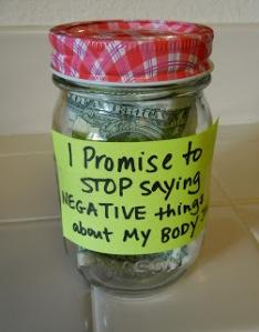 I promise Body Image Jar