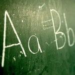 Aa Bb blackboard